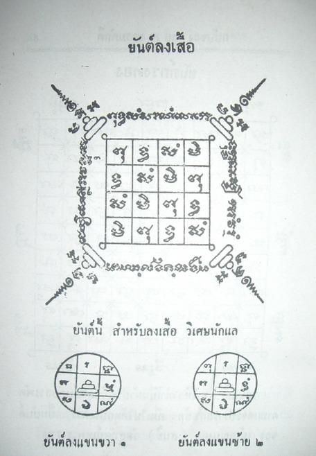 Yant Long Suea - Shirt Yantra design