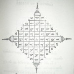 Yant Pra Jao Ha Pra Ongk - 5 Dhyani Buddha Yantra