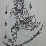Hanuman casting spells