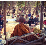 Luang Por Chanai giving Forest Teachings in the form of Vipassana Kammathana practices
