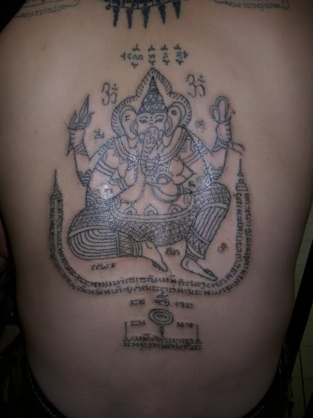 Yant Pra Pikanes (Ganesha Yantra Tattoos)