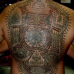 Full Back Piece Sak Yant Tattoos by Ajarn Man