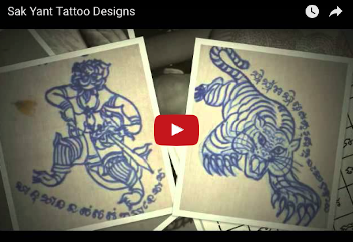 Sak Yant Thai Temple Tattoos Designs